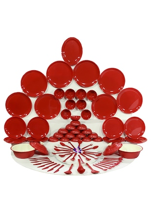 Kitchen Duniya Round Dinner Set, 8 person, 80 piece