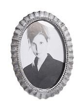 Antique Aluminium Oval Photo Frame - Luxuria Homez