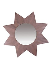 Star Shaped Wooden Mirror - Luxuria Homez