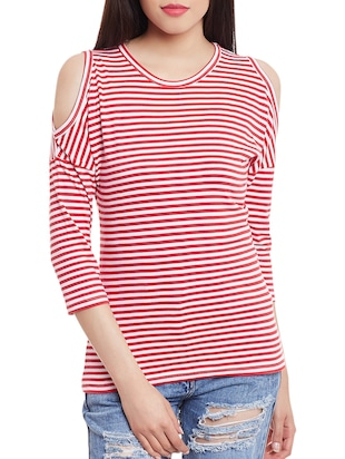 red and white striped cotton top