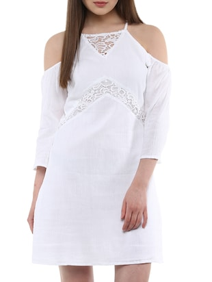 white rayon dress