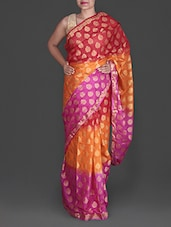 Multicolored Jacquard Poly Silk Kota Saree - By