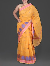 Yellow Jacquard Kota Saree - Maandna