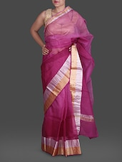 Pink Shaded Pure Silk Kota Saree - Maandna