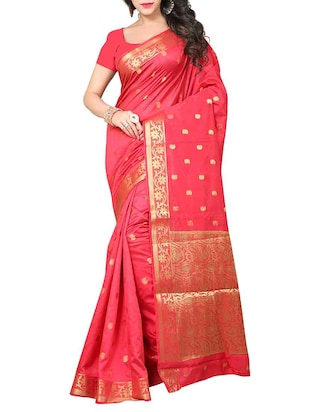 multi art silk banarasi saree