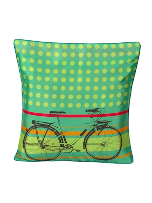 Green Polyester Pop Cycle Cushion Cover -  online shopping for Single Cushion Cover