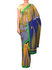 Multicolored Printed Georgette Saree - By