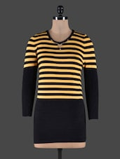 Horizontal Striped Long Sleeves Top - CAMEY