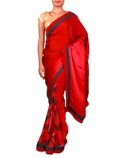 Maroon And Pink Printed Georgette Saree - Inddus