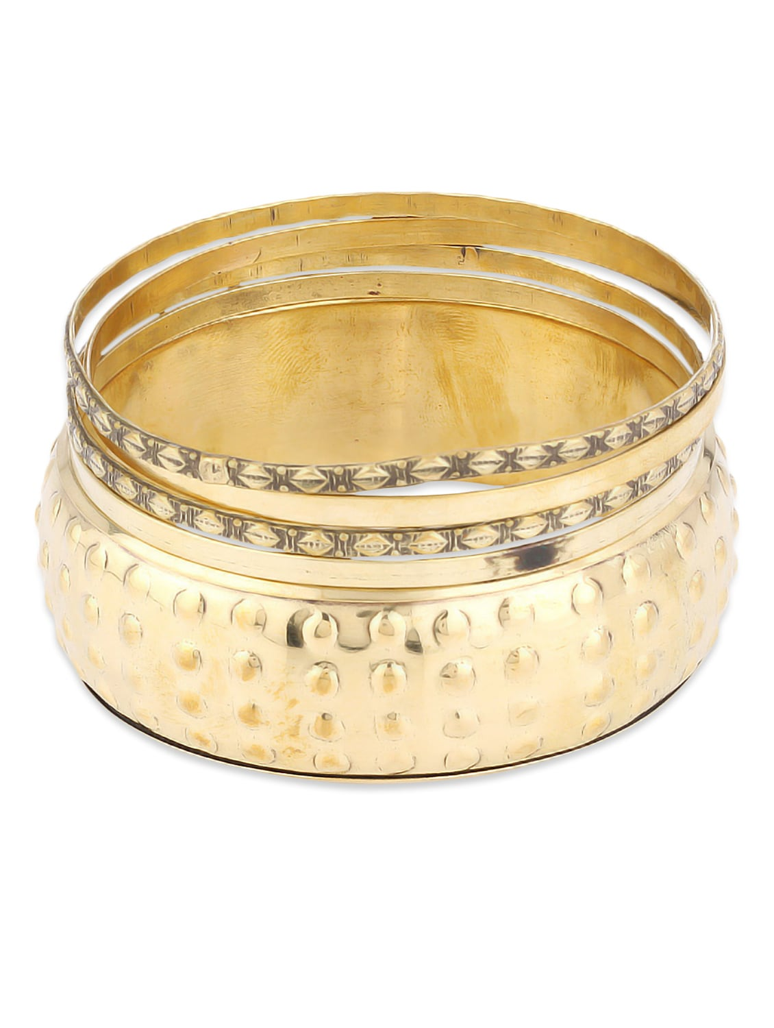 Gold Metallic Bangles - By