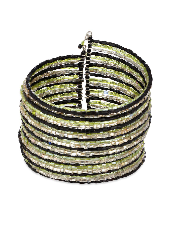Multicolour Metallic Cuff Bracelet - Voylla