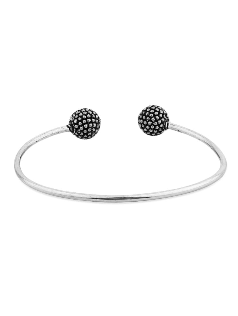 Silver Metallic Cuff Bracelet - Voylla