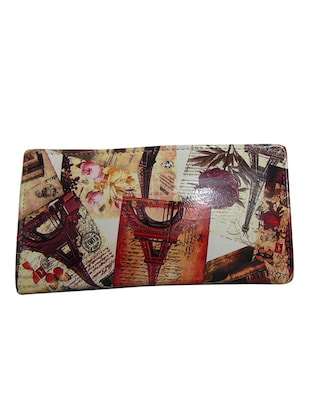 multi leatherette clutch