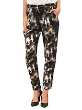 black cotton printed trouser -  online shopping for Trousers
