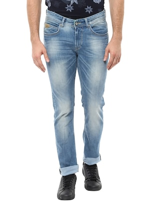 light blue cotton skinny jeans -  online shopping for Jeans