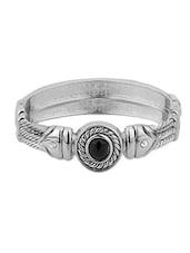 Silver Metallic Kada Bracelet - By