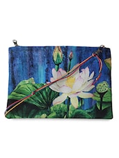 Lotus printed sling bag