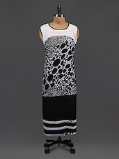 Black Chikankari Polka Dots Georgette Kurta - By
