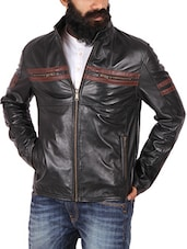 black leather biker jacket -  online shopping for Biker Jacket