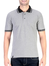 grey solid cotton t-shirt -  online shopping for T-Shirts