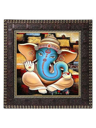 Ganesha Art print with Frame
