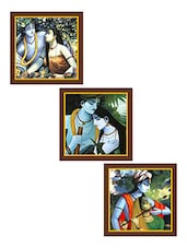 Krishna Art Paintings - Set Of 3 - By