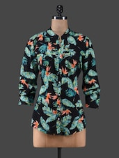 Leaf Printed Rayon Shirt - By