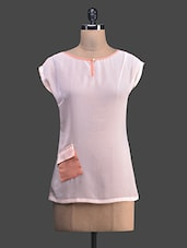 Baby Pink And Peach Georgette Top - Shivani&Joy
