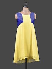 Pale Yellow Hi-Lo Sleeveless Dress - Shivani&Joy