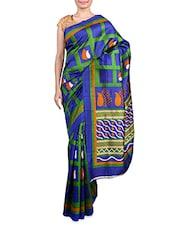 Multicolour Printed Art Silk Saree - By
