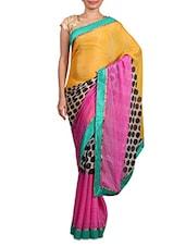 Multicolour Printed Cotton Silk Saree - By
