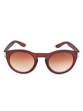 Brown  Full Framed Oval Sunglasses - By