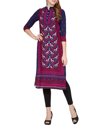 multi colored polyester printed kurta