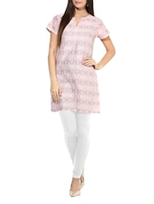 Short Sleeves Cotton Kurta - By
