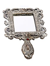 Silver Metal Backed Square Mirror - By
