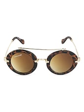 Brown Animal Print UV Protected Round Sunglasses - By