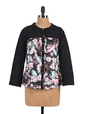Floral Print Long Sleeve Top - Sepia