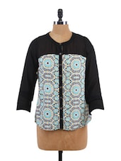 Printed Long Sleeve Top - Sepia