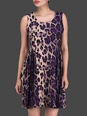 Multicolour Plain Poly Knit Dress - Lee Douche