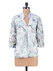 Multicolour Floral Printed Polyester Top - PEAR BLOSSOM