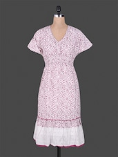 Pink And White Printed Cotton Dress - GOODWILL