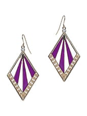 Multicolored Patterned Fashion Drop Earrings - By
