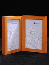 Hinged Dual Wooden Photo Frame - By