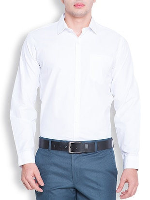 white polyester formal shirt -  online shopping for formal shirts