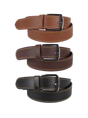 set of 3 multicolored leather belts -  online shopping for Belts