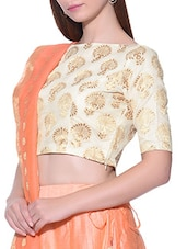 gold brocade blouse -  online shopping for Blouses