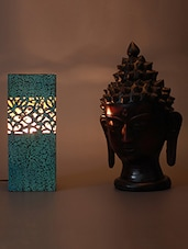 Blue And Gold Flower Table Lamp - HOD Lights