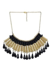 Black And Gold Acrylic Necklace - By