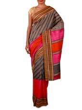 Multicoloured Printed Bhagalpuri Silk Saree - By - 1190763