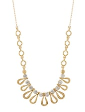 Gold Metal Long Necklace - By
